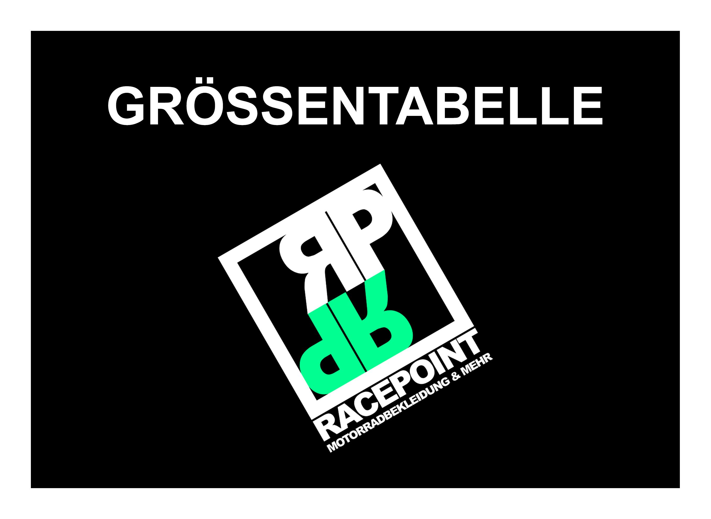 Grössentabelle Racepoint Motorradbekleidung