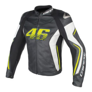 VR46 D2 Leather Dainese Leder Herrenjacke v1