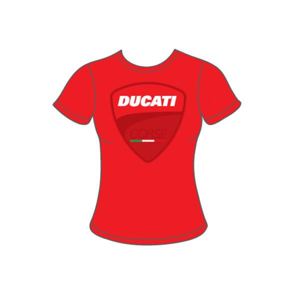 DUCATI CORSE BIG LOGO WOMAN T-SHIRT