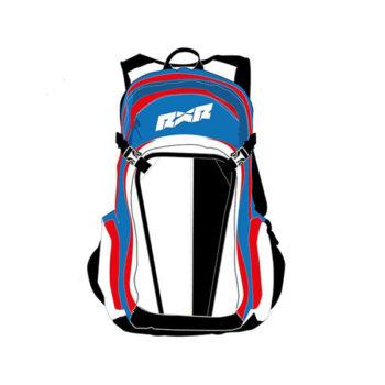 racepoint.ch_436000035 - RXR PROTECT Rucksack und aufblasbarer SHELTER Protektor weiß_blau_rot