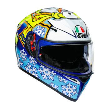 racepoint_AGV_Integralhelm_K-3 SV_Rossi Winter Test 2016_blau-weiss-gelb