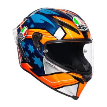 racepoint_AGV_integralhelm_Corsa R_Miller 2018_blau-orange-weiss