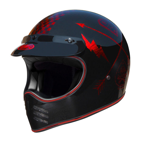racepoint_Premier NX RED CHROMED_Integralhelm_Retrohelm