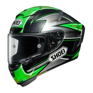 racepoint_Shoei X-Spirit III_Laverty TC-4 schwarz-grün-silber_Motorradhelm