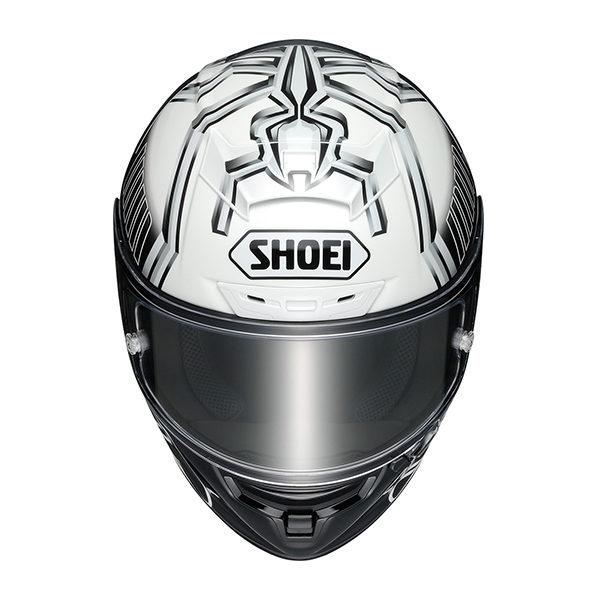 racepoint_Shoei X-Spirit III_Marc Marquez 4_schwarz-weiss_Motorradhelm