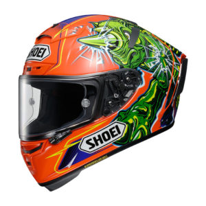 racepoint_Shoei X-Spirit III_Power Rush TC-8 orange-grün-violett_Motorradhelm