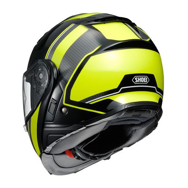 racepoint_Shoei_Motorradhelm_Klapphelm_Neotec II Excursion TC-3 fluo gelb-schwarz-weiss