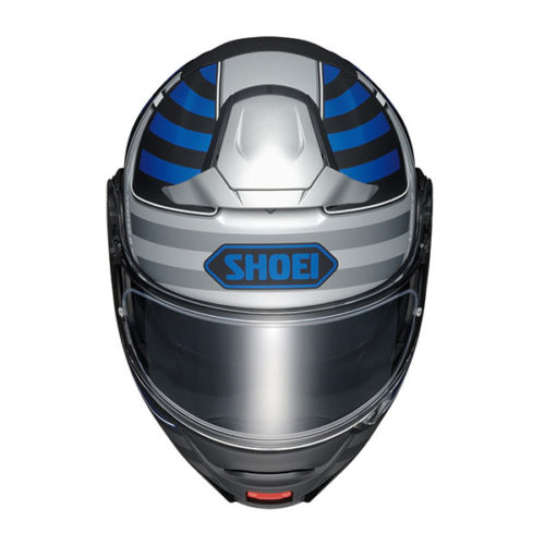 racepoint_Shoei_Motorradhelm_Klapphelm_Neotec II Splicer TC-2 matt schwarz-blau-silber