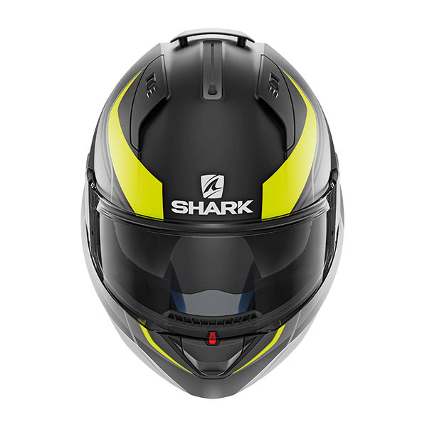 racepoint_shark motorradhelm evo one krono mat schwarz_gelb