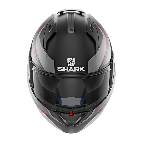 racepoint_shark motorradhelm evo one krono mat schwarz_rot