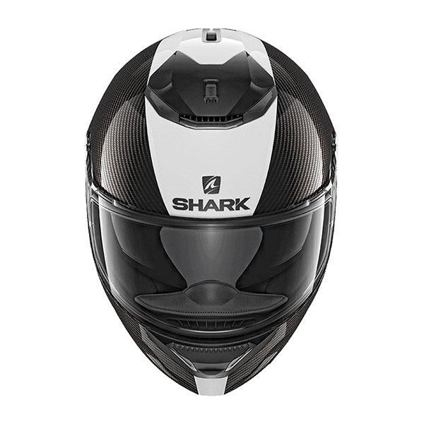 racepoint_shark motorradhelm spartan carbon skin carbon_weiss