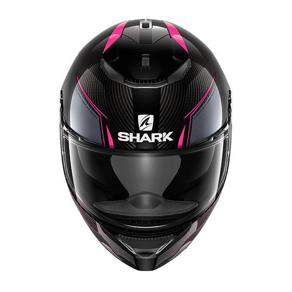 racepoint_shark spartan carabon purple anthracite_motorradhelm_integralhelm