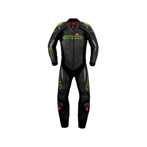 racepoint_supersport spidi lederkombi 1-Teilig black green