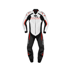 racepoint_supersport spidi lederkombi 1-Teilig black red white