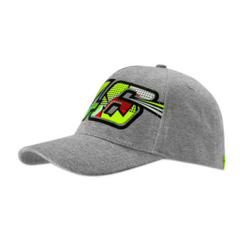 racepoint_valentino rossi cap pop art lady grau woman