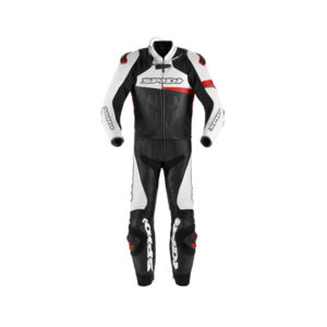 racepoint_warrior touring spidi lederkombi 2-Teilig black red white